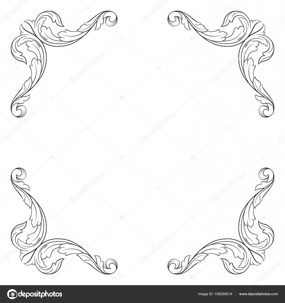 Classical baroque ornament vector stock vector acantstudio classical baroque vector of vintage element for design decorative design element filigree calligraphy vector you can use for wedding decoration of junglespirit Image collections