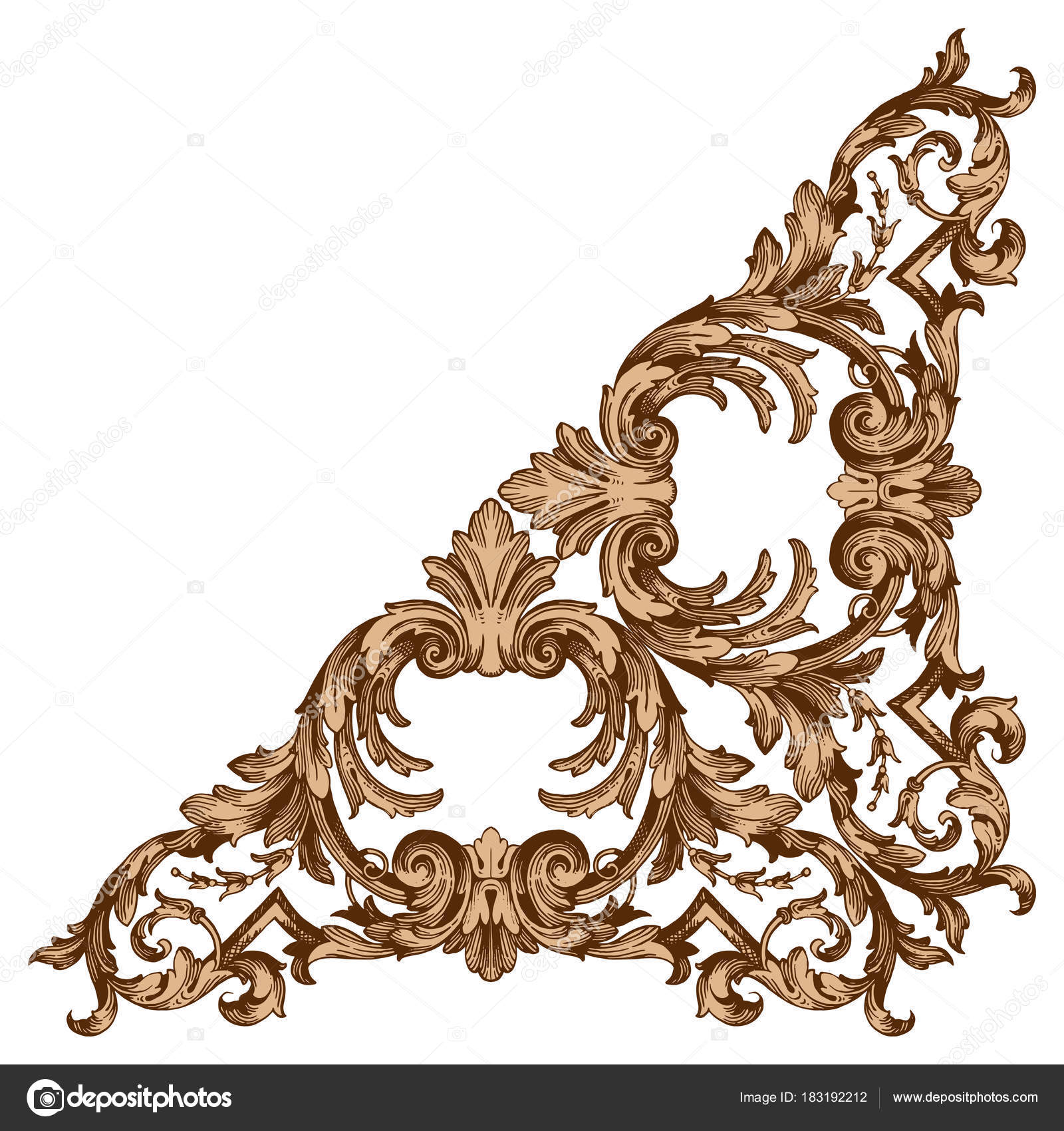 classical baroque vector of vintage elements for design decorative design element filigree calligraphy vector you can use for wedding decoration of