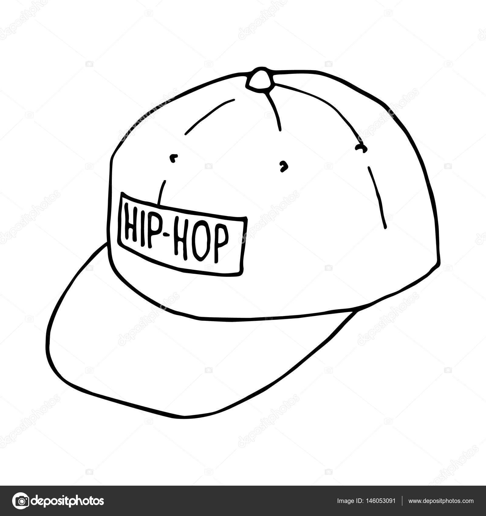 Načrtněte baseballové čepice. Čepice hip-hop. Vektorový obrázek izolované.  Koncept street artu– stock ilustrace ba6d4ae040