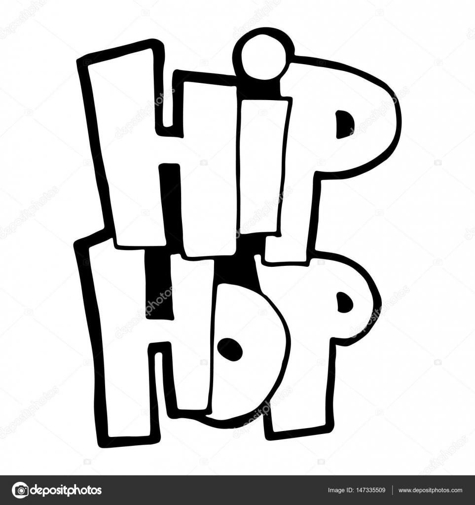 Картинки карандашом русскими буквами хип хоп