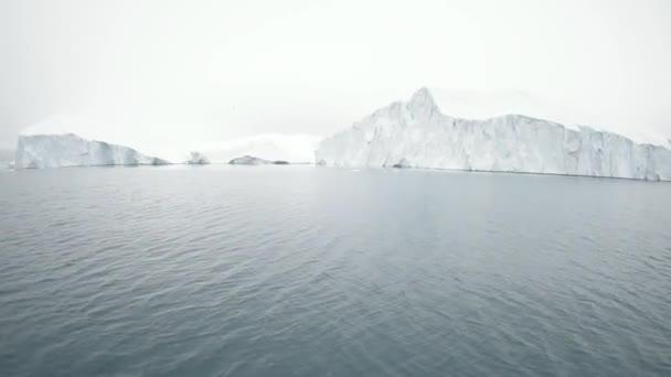 Huge Icebergs on Arctic Ocean in Greenland