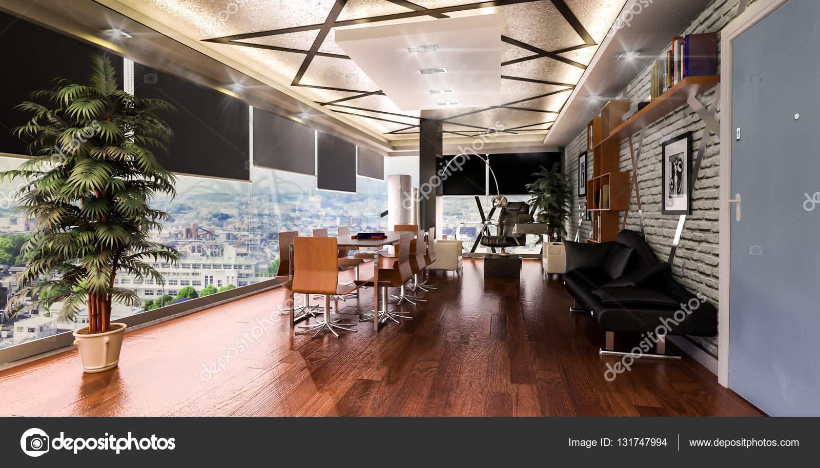 3D Render die Bürogestaltung — Stockfoto © mtellioglu #131747994