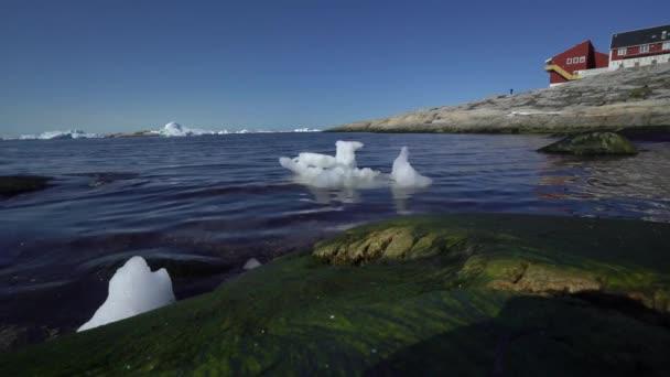 Icebergs on arctic ocean in ilulissat province, Greenland.