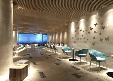 3d render of working space