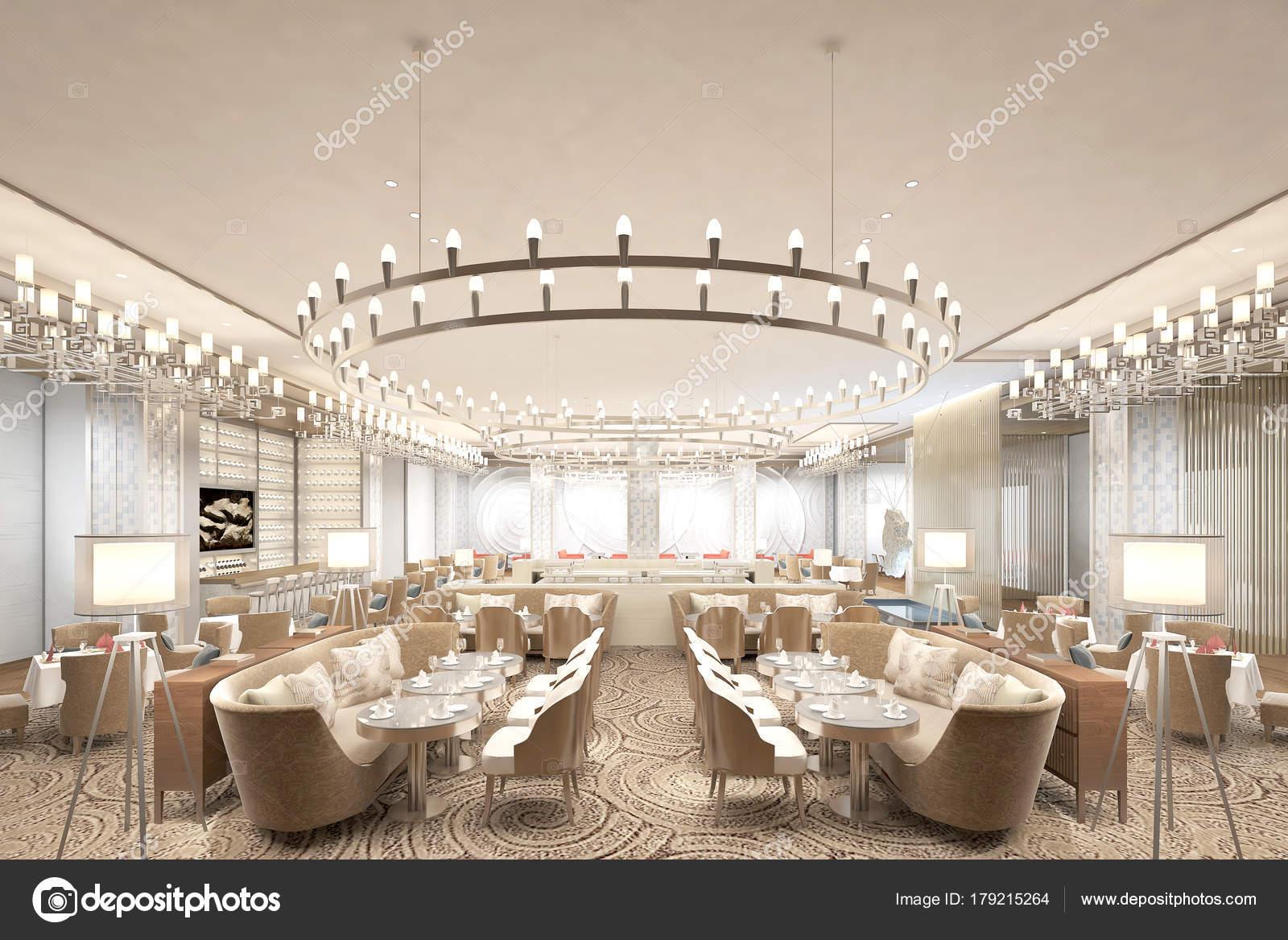 rendu 3d de la salle manger de luxe hotel image de mtellioglu