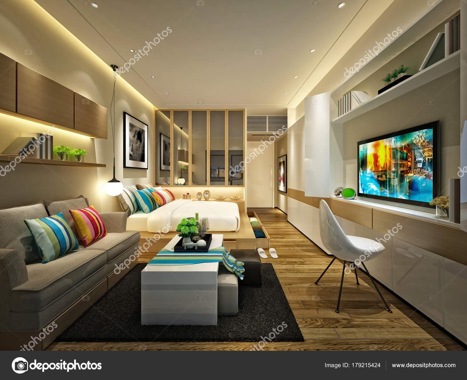 Rendern Von Luxus Schlafzimmer — Stockfoto © mtellioglu #179215424