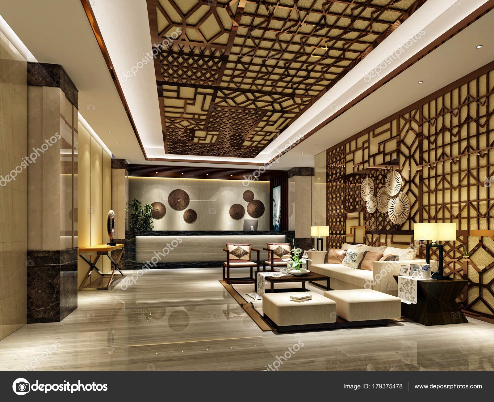 3d Render Of Luxury Hotel Reception Desk U2014 Photo By Mtellioglu
