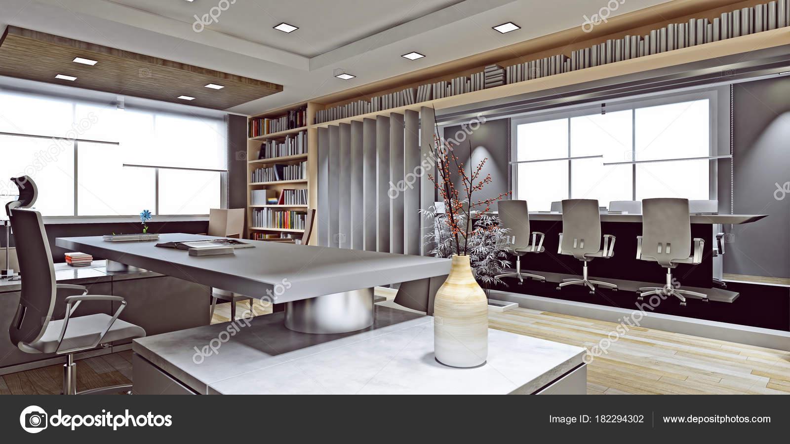 Rendu Salle Travail Bureau Moderne — Photographie mtellioglu ...