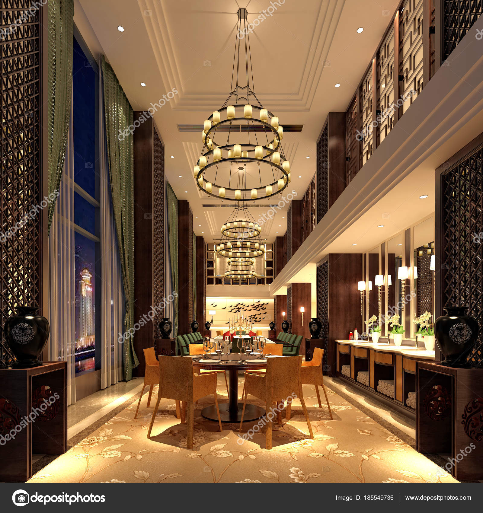 3d Render Of Dining Room And Bar Photo By Mtellioglu