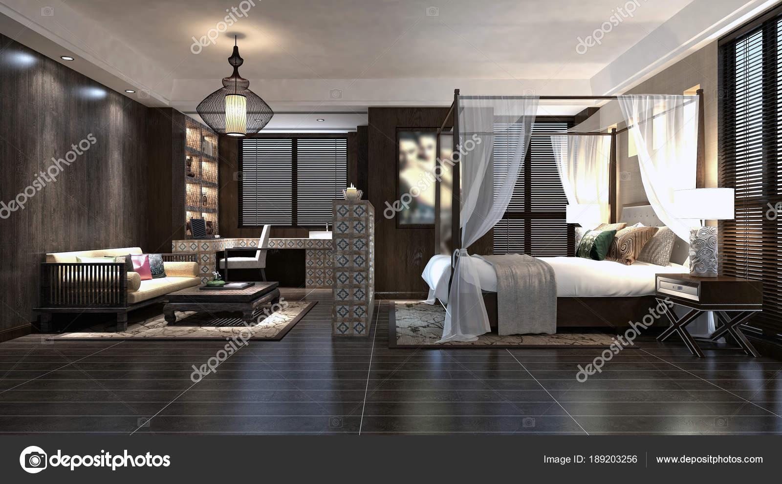 Rendu 3D De Chambre Du0027hôtel De Luxe U2014 Image De ...