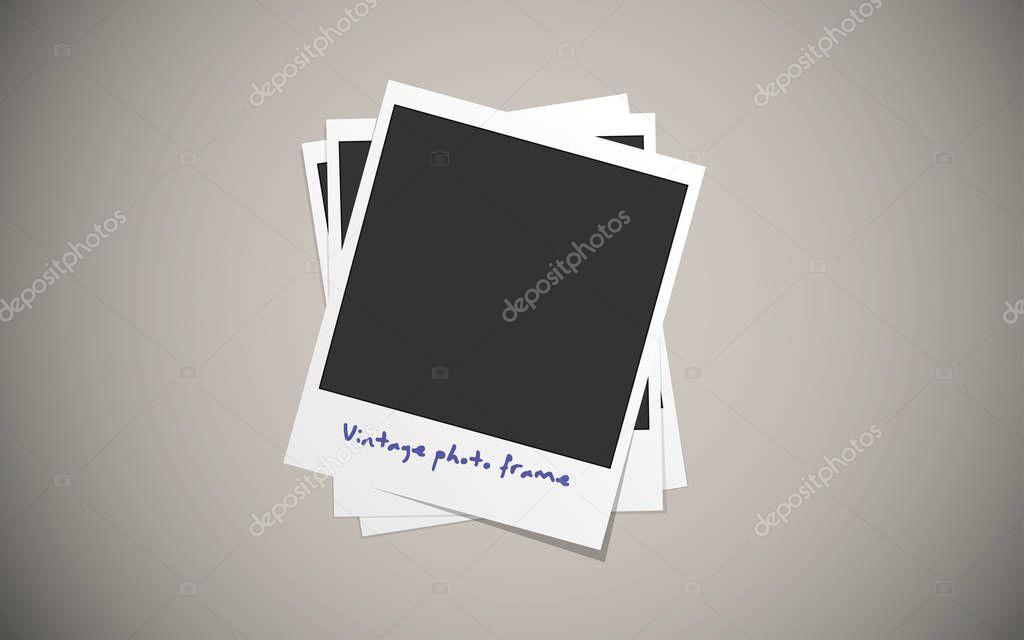 Realistische Vektor Vintage Papier Fotorahmen — Stockvektor © vlad ...