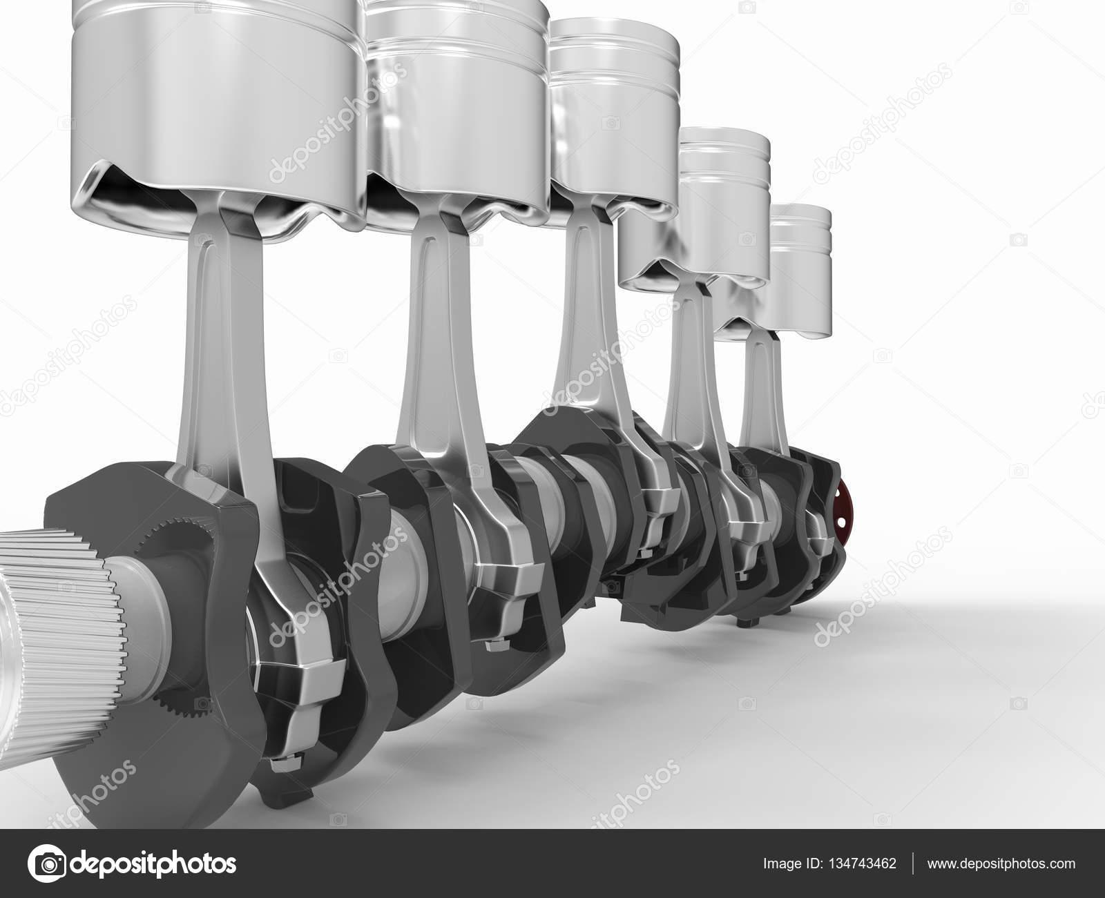 Kolben und Kurbelwelle — Stockfoto © andrija.pajtic@gmail.com #134743462