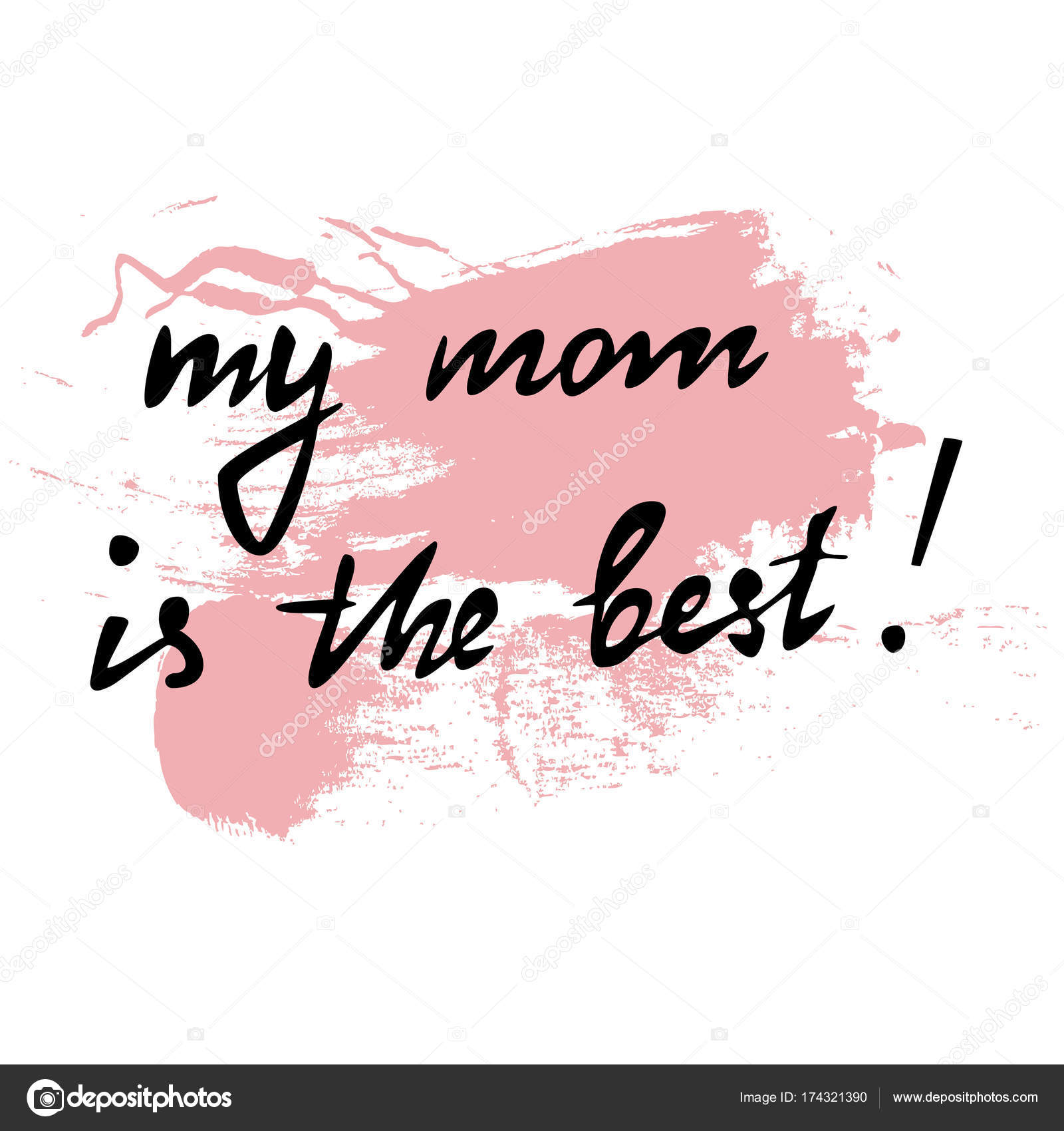 Greeting Card Or Banner My Mom Is The Best Perfect For Mothers Day Happy Birthday Vector Editable Letters By
