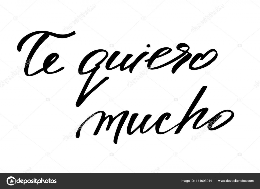 i love want you very much in spanish handwritten black text o