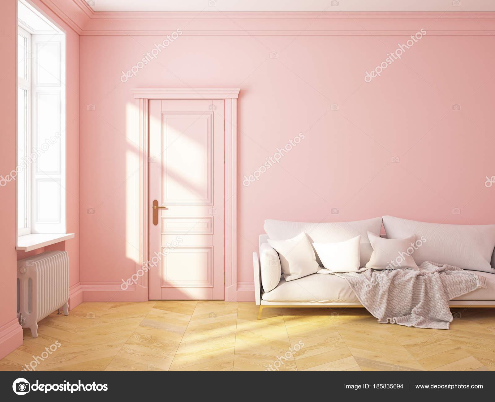 Classic interior pink roze quartz sofa — Stock Photo © YKvision ...