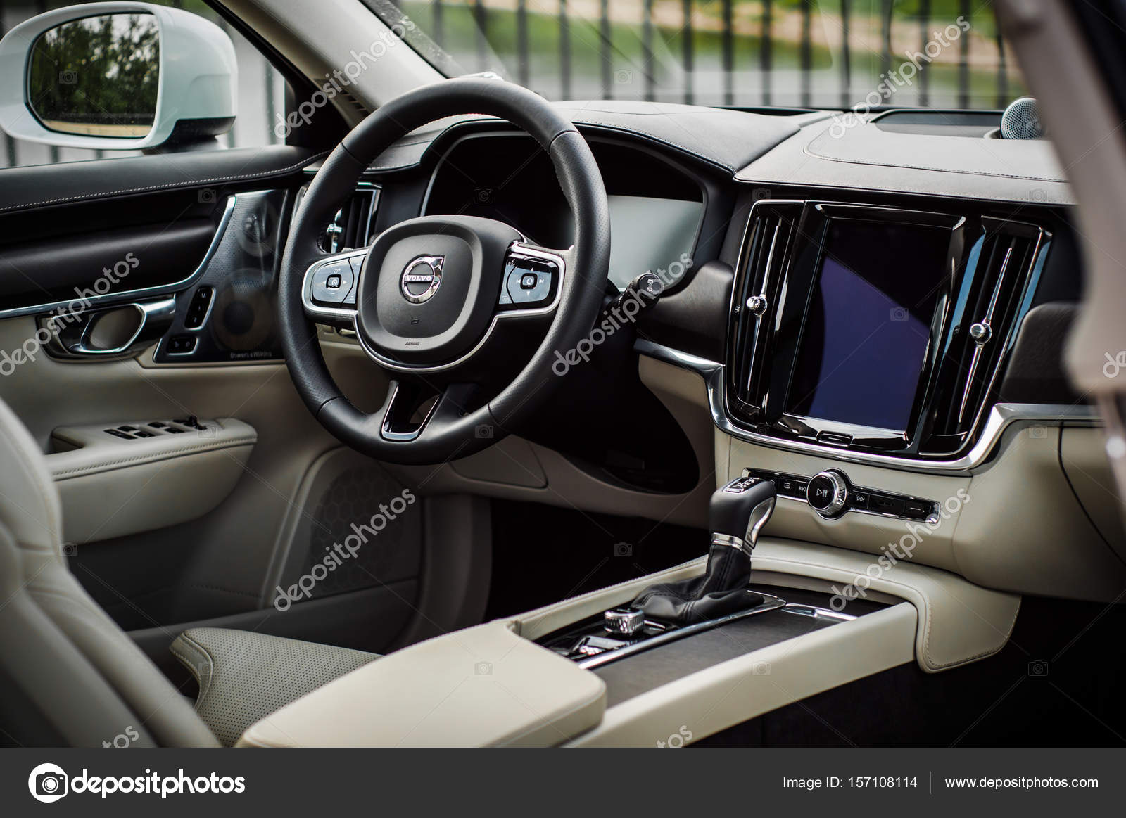 MOSCOW, RUSSIA - MAY 3, 2017 VOLVO V90 CROSS COUNTRY, interior view ...