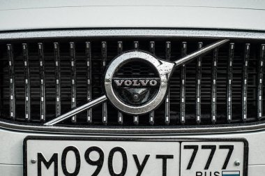 MOSCOW, RUSSIA - MAY 3, 2017 VOLVO V90 CROSS COUNTRY, front-side view. Test of new Volvo V90 Cross Country. This car is AWD SUV with business-class saloon. D4 engine.