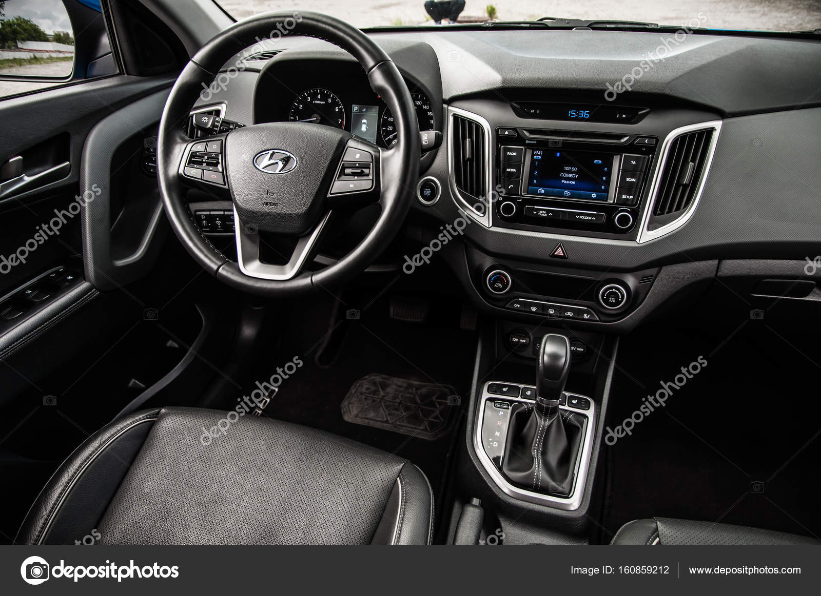 Moscow Russia June 25 2017 Hyundai Creta Hyundai Ix25
