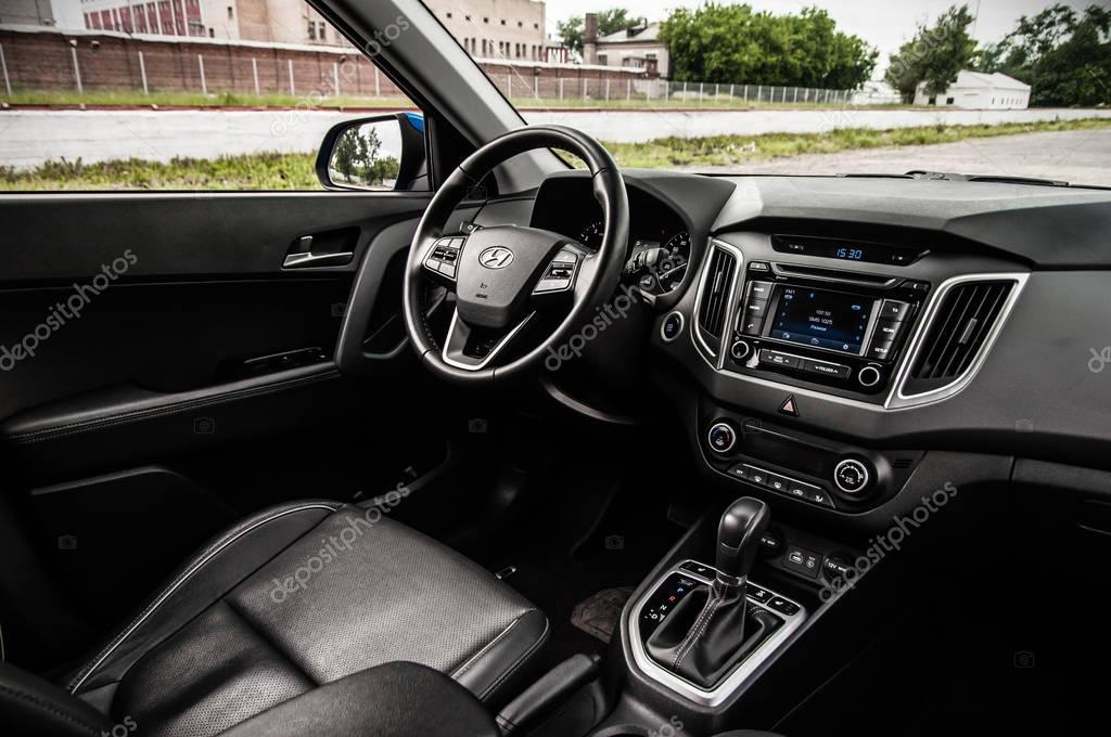 Moscow Russia June 25 2017 Hyundai Creta Hyundai Ix25 Interior View Test Of New Hyundai