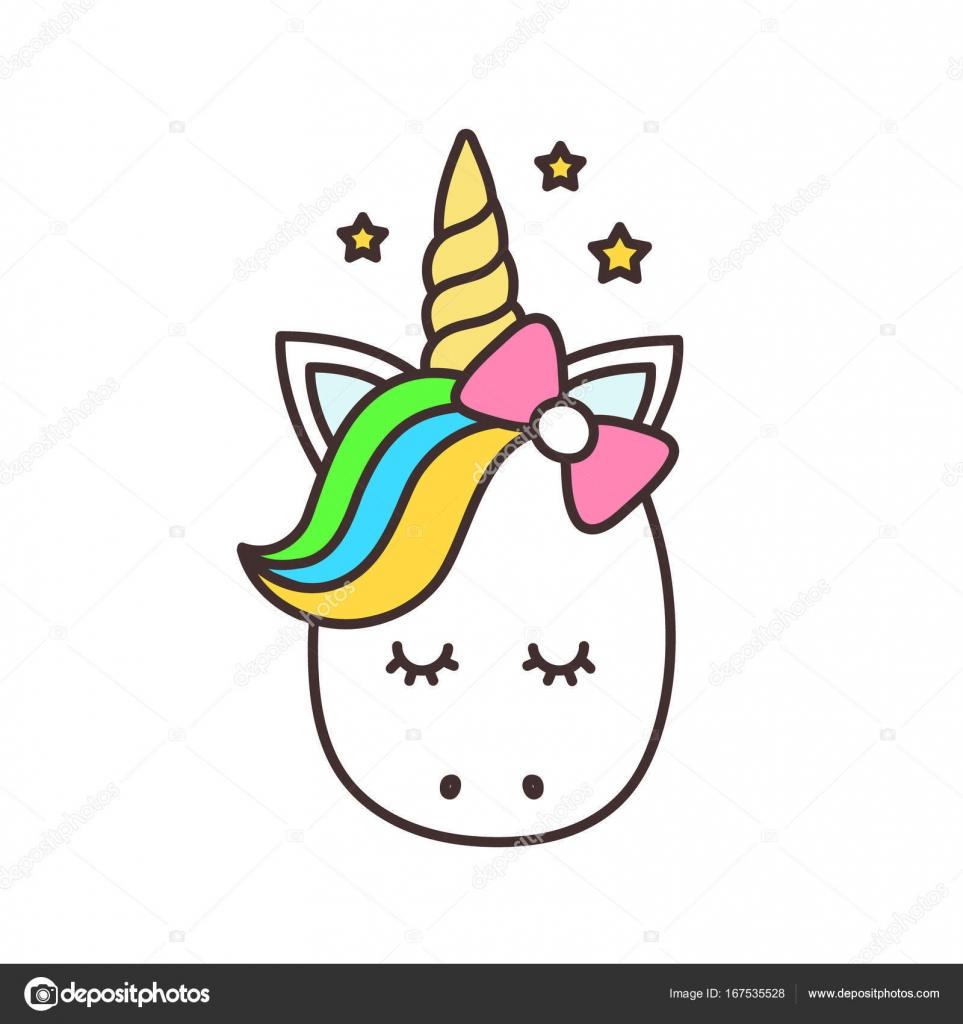 foto de Licorne mignon Personnage de dessin animé de vecteur