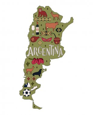The Map of Argentina.
