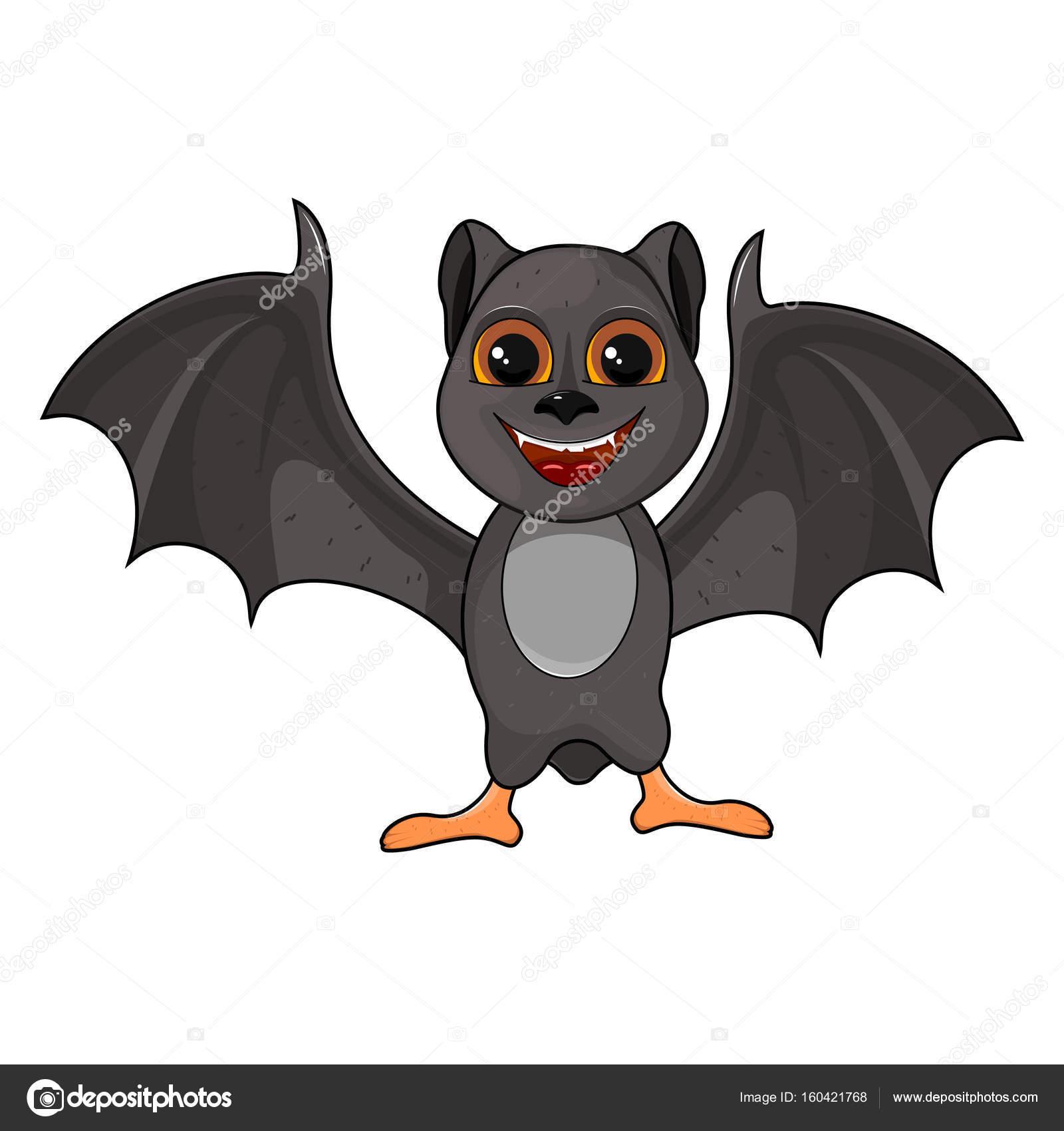 Illustrazione di pipistrello halloween simpatico