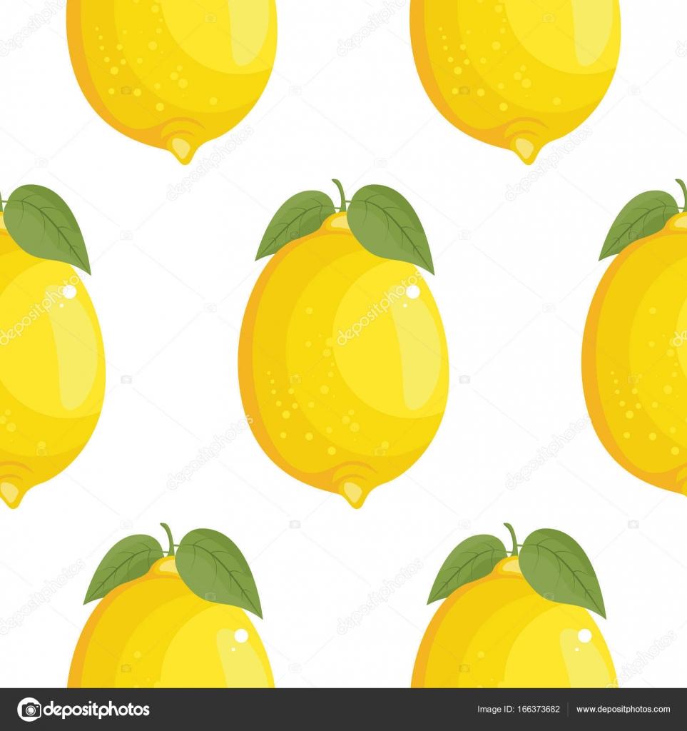Nove Velke Citrony Pozadi Rucne Kreslene Ikony Barevne Vektorove