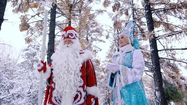 Portrét Mrazíka pomocí svou kouzelnou hůlkou, aby sníh