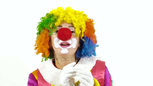 Bunte Zirkus Clown Gesang lustiges Lied