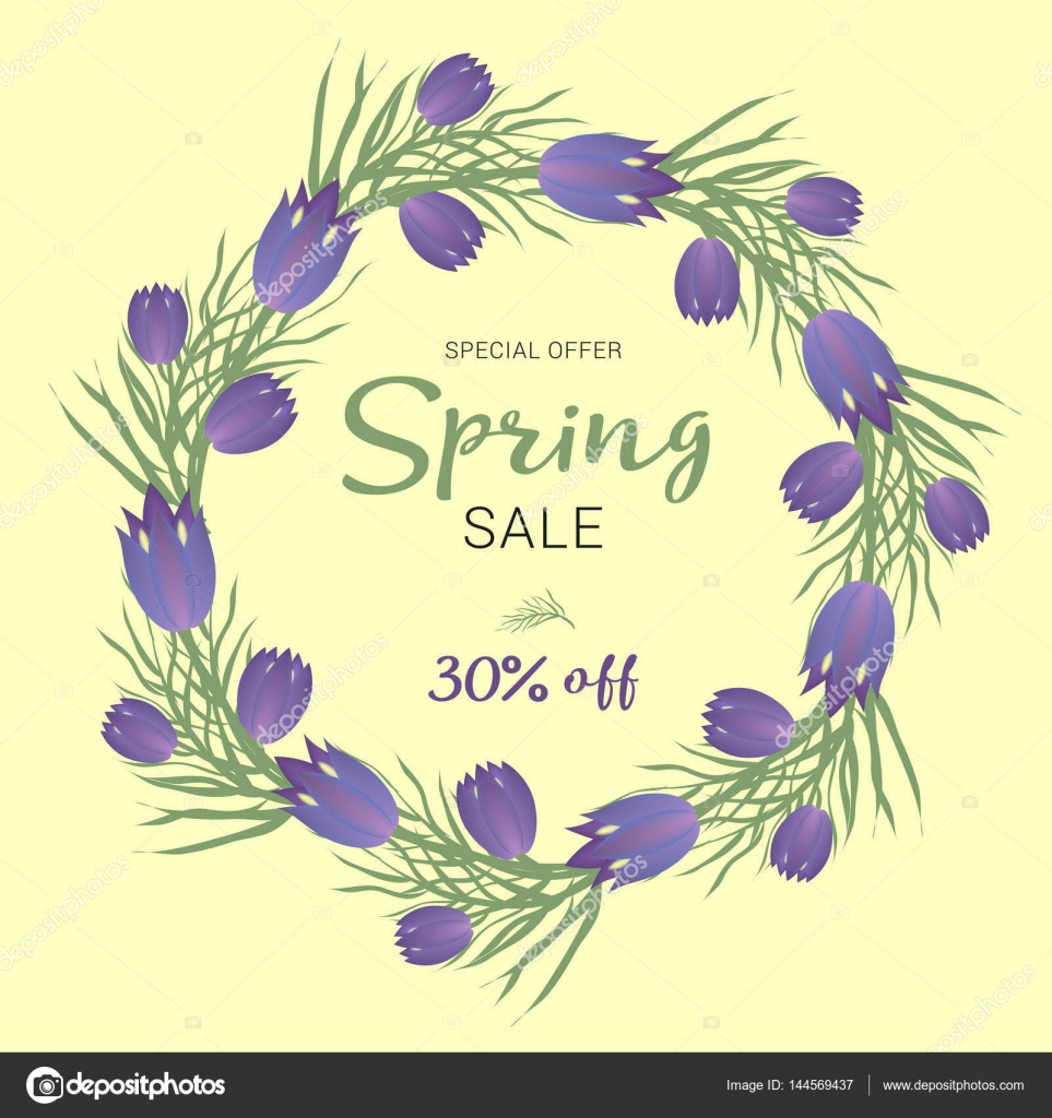 Spring sale background with beautiful colorful flower vector spring sale background with beautiful colorful flower vector illustration template banners wallpaper flyers invitation posters brochure voucher stopboris Images
