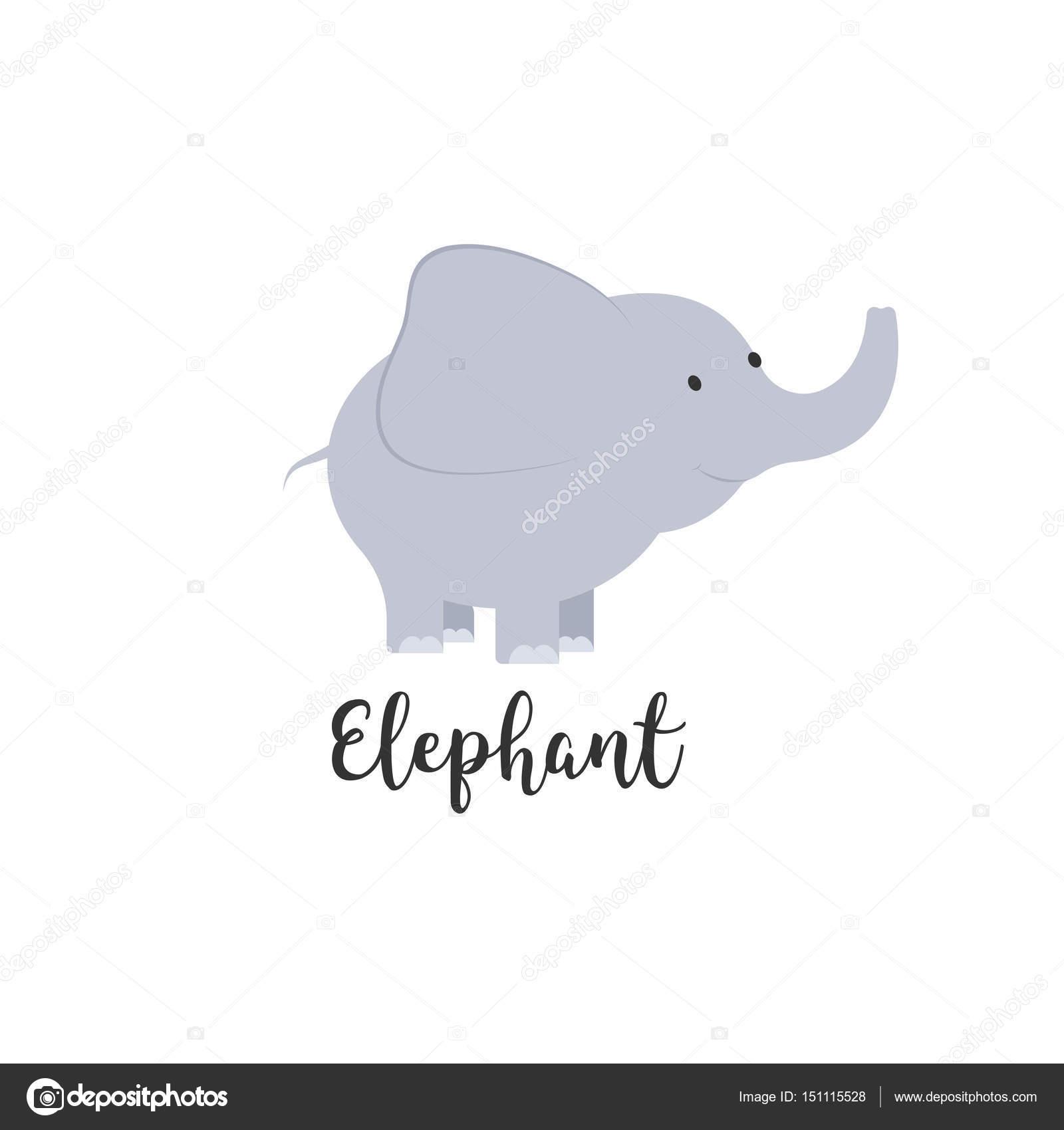 Adorable Invitacion Elefante De Dibujos Animados Lindo Bebe