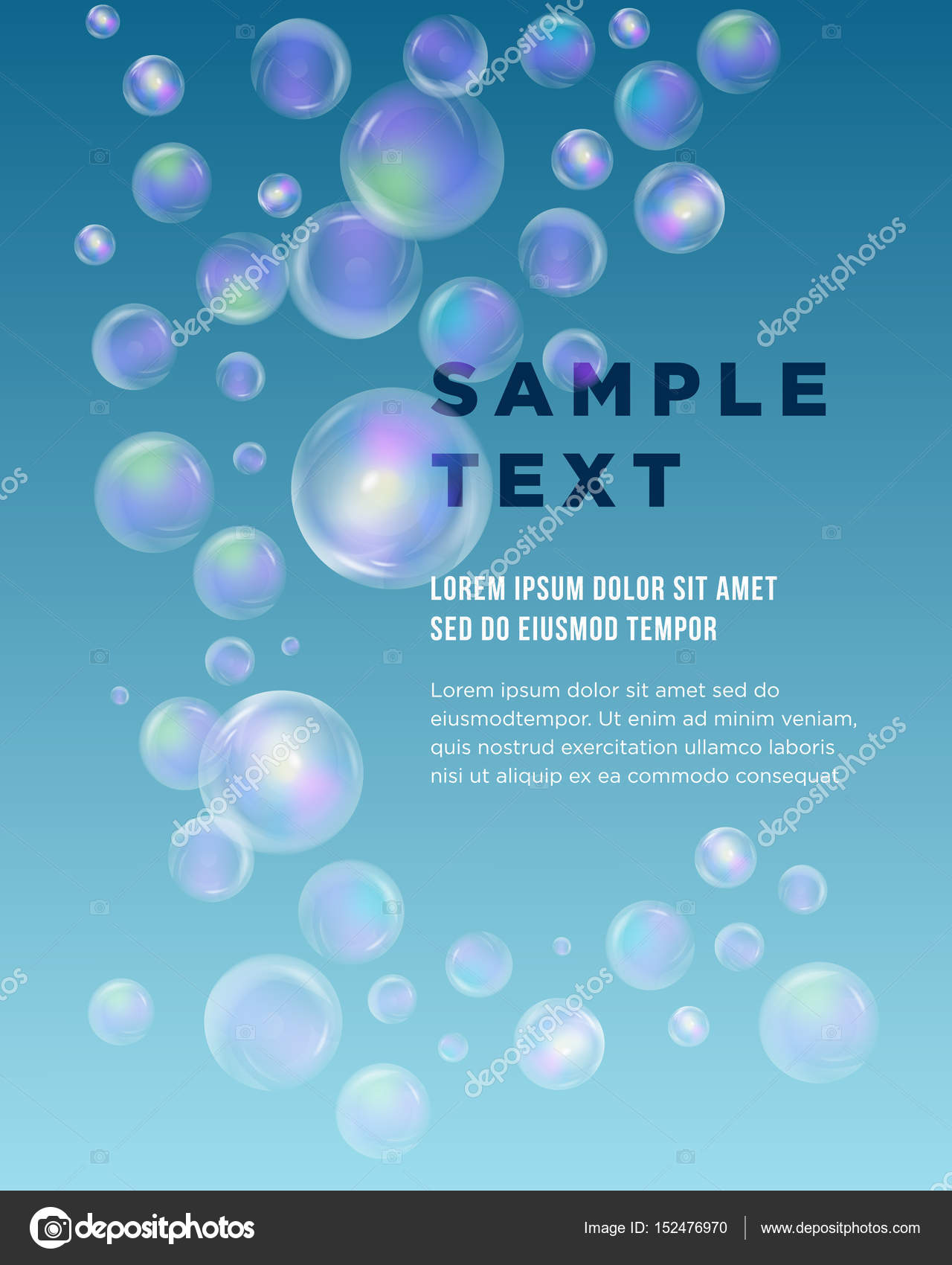 blue bubble theme with place for your text abstract composition