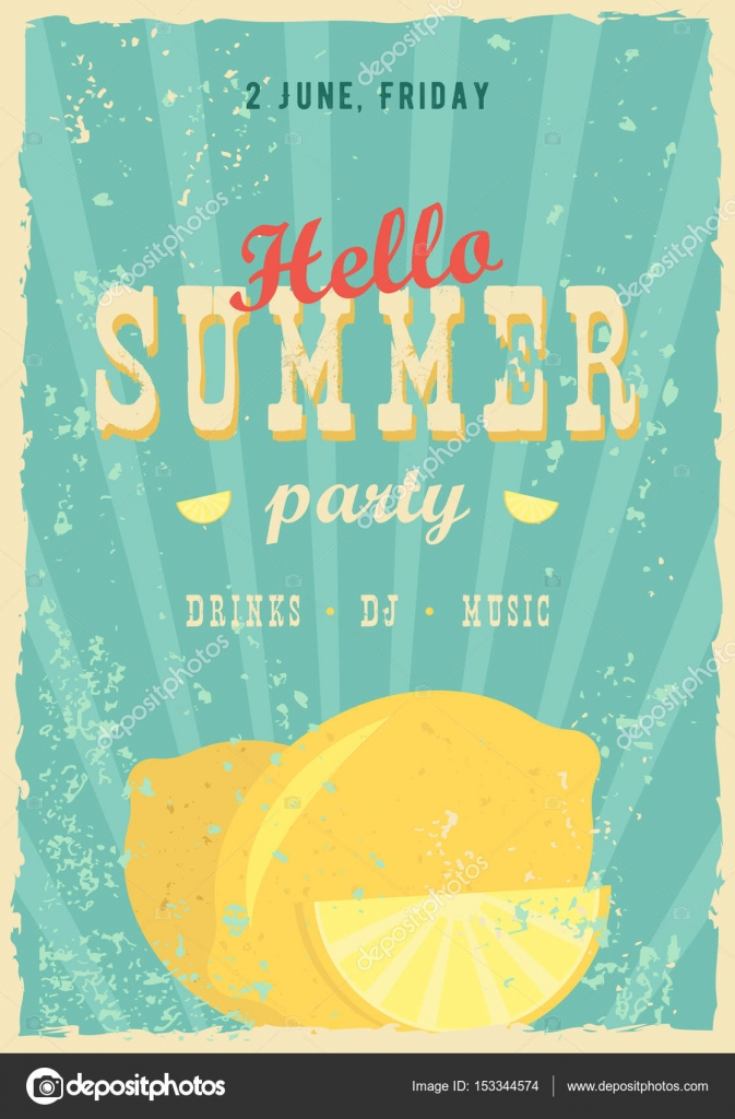 Hello Summer Poster Background Effects Frame Colors And Text Are Editable Happy Holidays Card Vacation