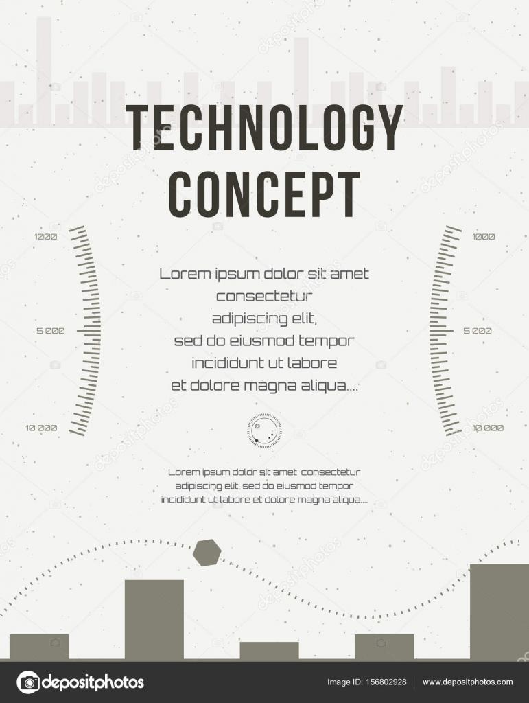 Informe de la tecnología, plantilla de diseño de flyer, folleto ...