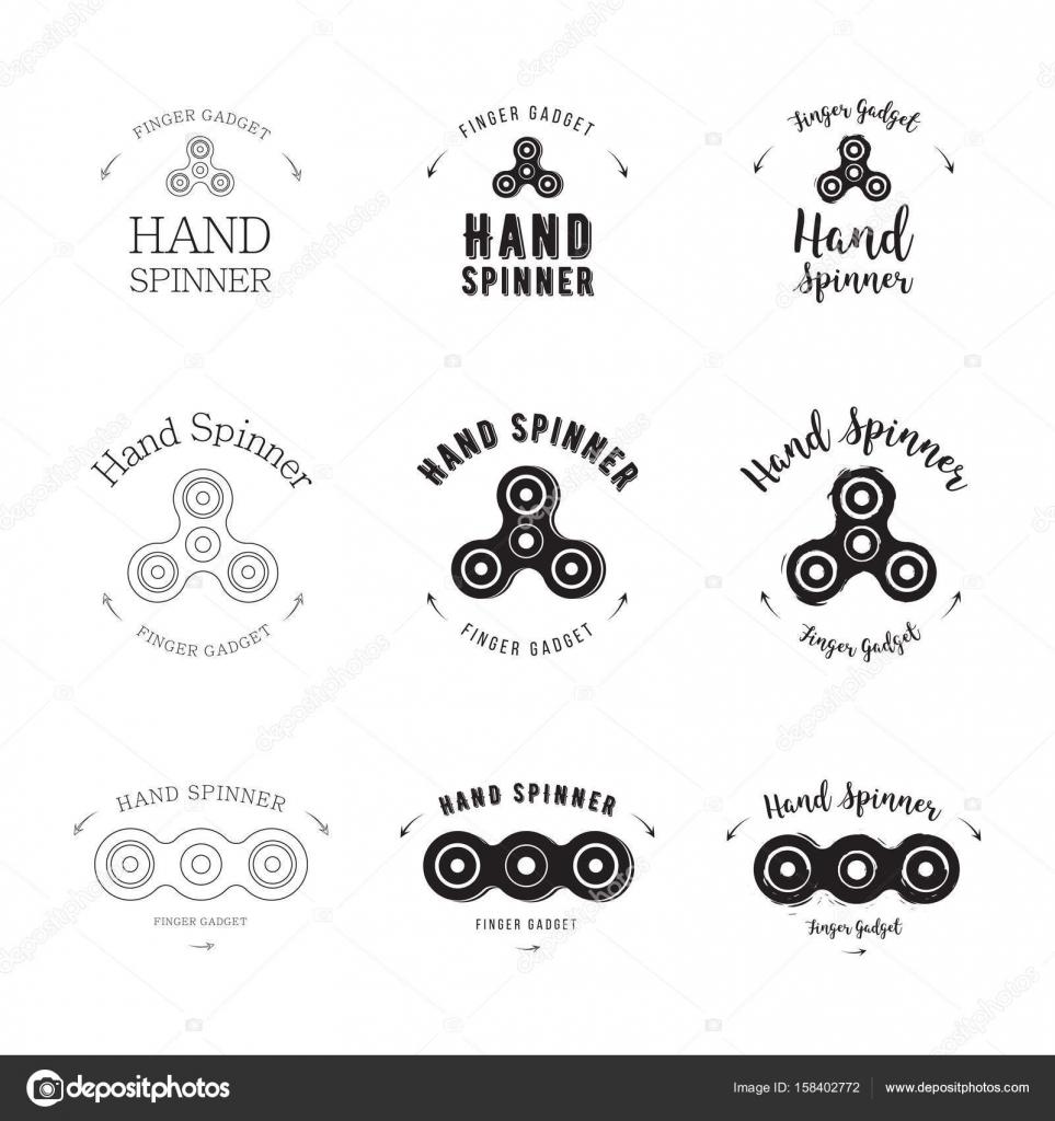 hand spinner set vector logo template for your design hand spinner
