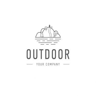 Outdoor explorer badge. Illustration of outdoor explorer label. Typography and roughen style. Outdoor explorer logo. Inspirational text. Outdoor explorer stock vector.