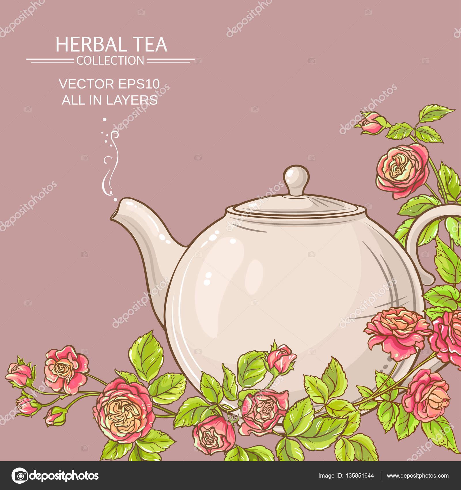 Priorità bassa di vettore di rosa tea — Vettoriali Stock ...