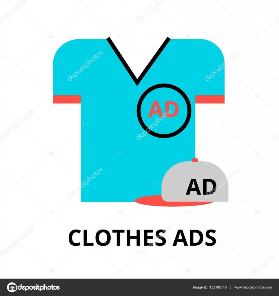 768d4e0f306a Pojmu reklama na oblečení — Stock Vektor © ArtRoseStudio  132185748