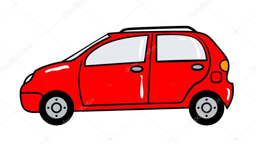 Auto adesivo cartone animato in stile retrò — vettoriali