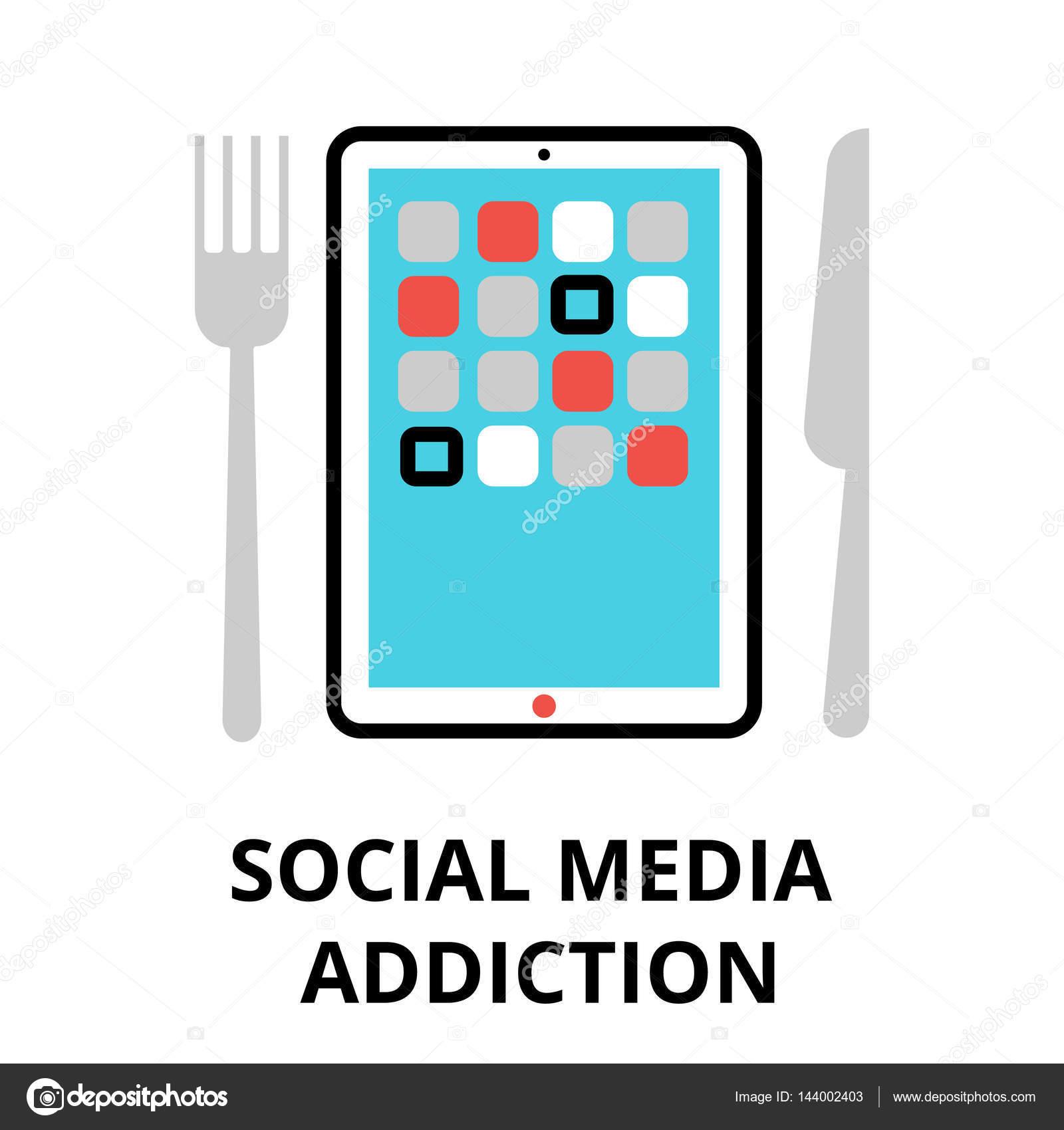 Konzept der sozialen Medien sucht, Vektor-illustration — Stockvektor ...