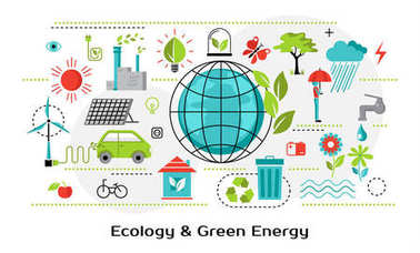 Infographic concept of ecology