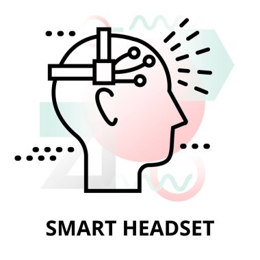 Abstract icon of smart headset