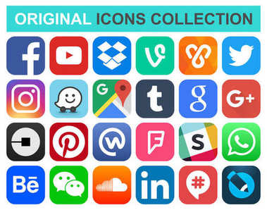Popular social media and other icons