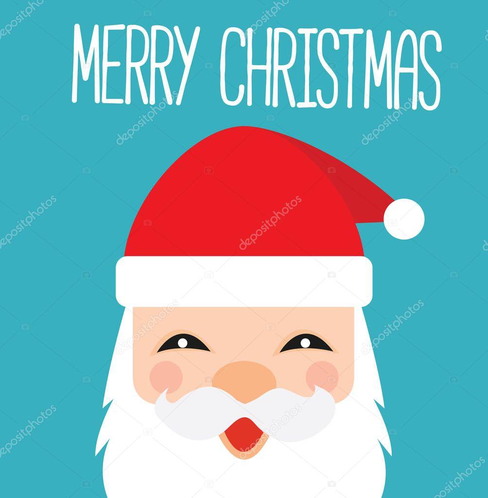 Immagini Natalizie Kawaii.Babbo Natale Cartolina Di Kawaii Del Fumetto Vettoriali Stock