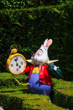 A model of the White Rabbit from Alice'sin Wonderland