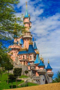 Sleeping Beauty castle at Disneyland Paris, Eurodisney Editorial.