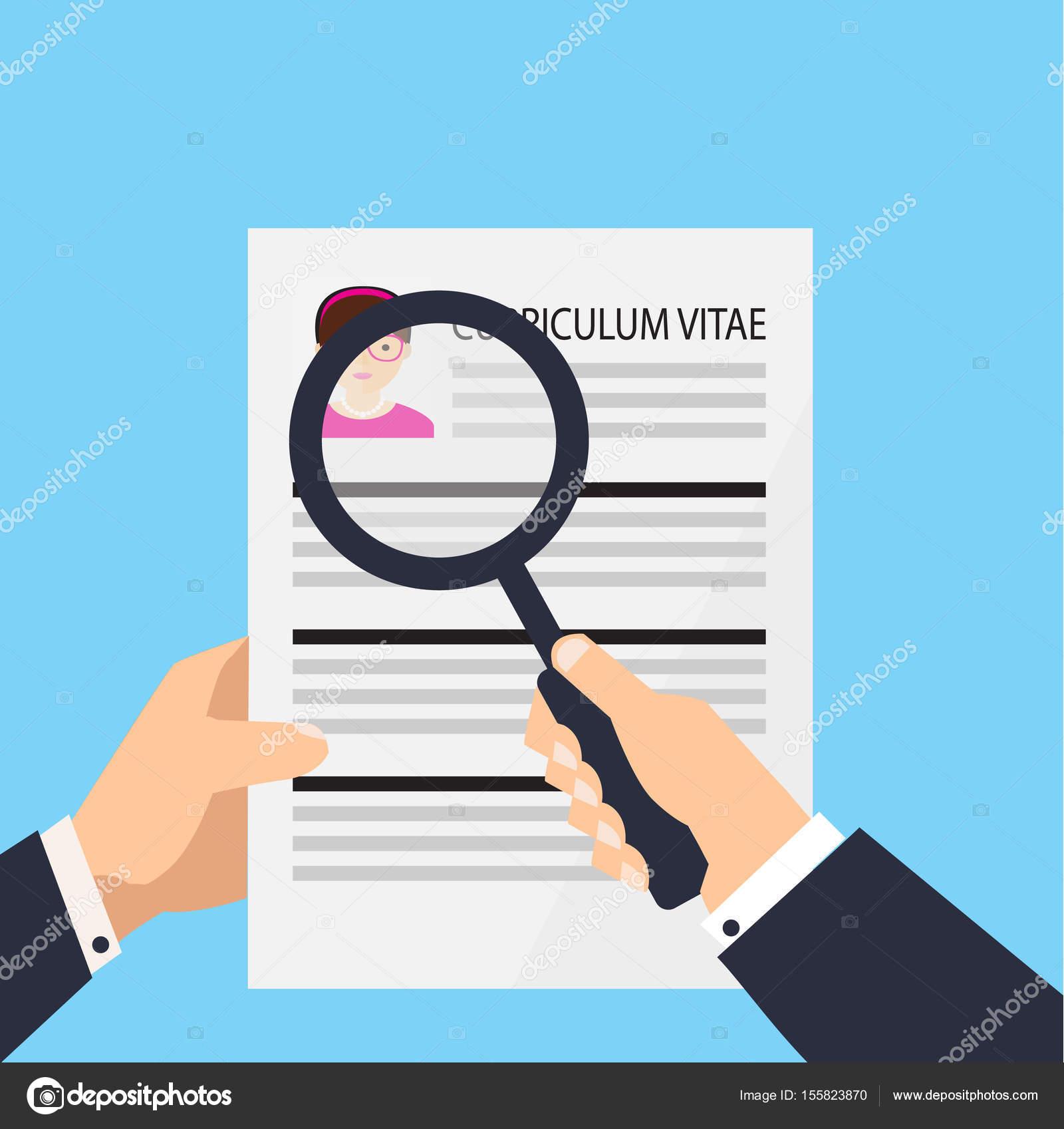 Lebenslauf-Dokument-Symbol. Human Resources Management oder Analyse ...