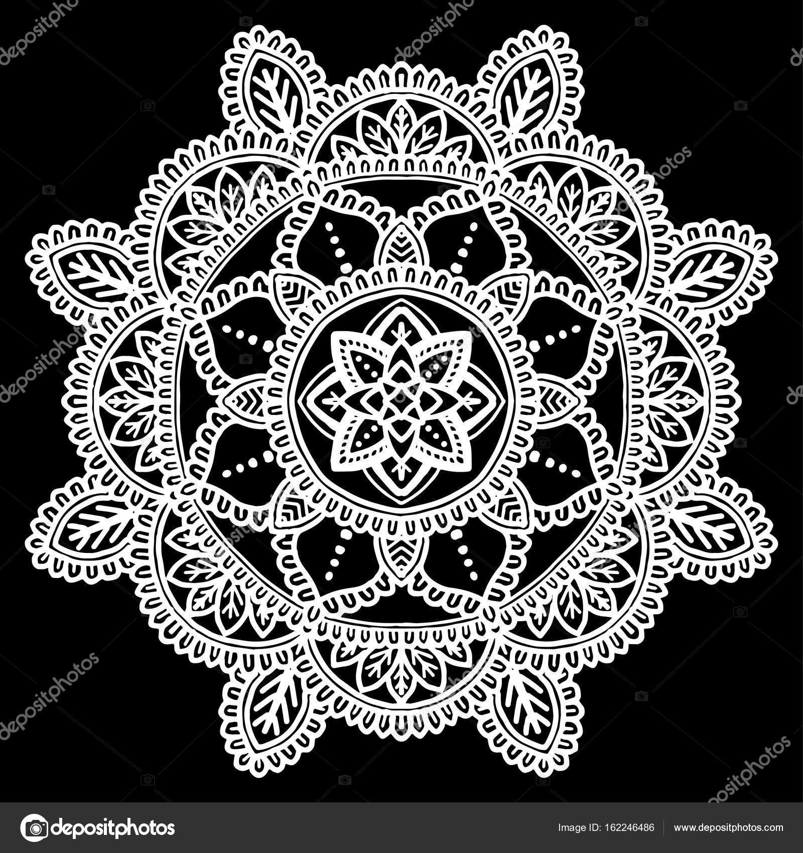 Mod le de mandala blanc image vectorielle tamsamtam - Modele de mandala ...
