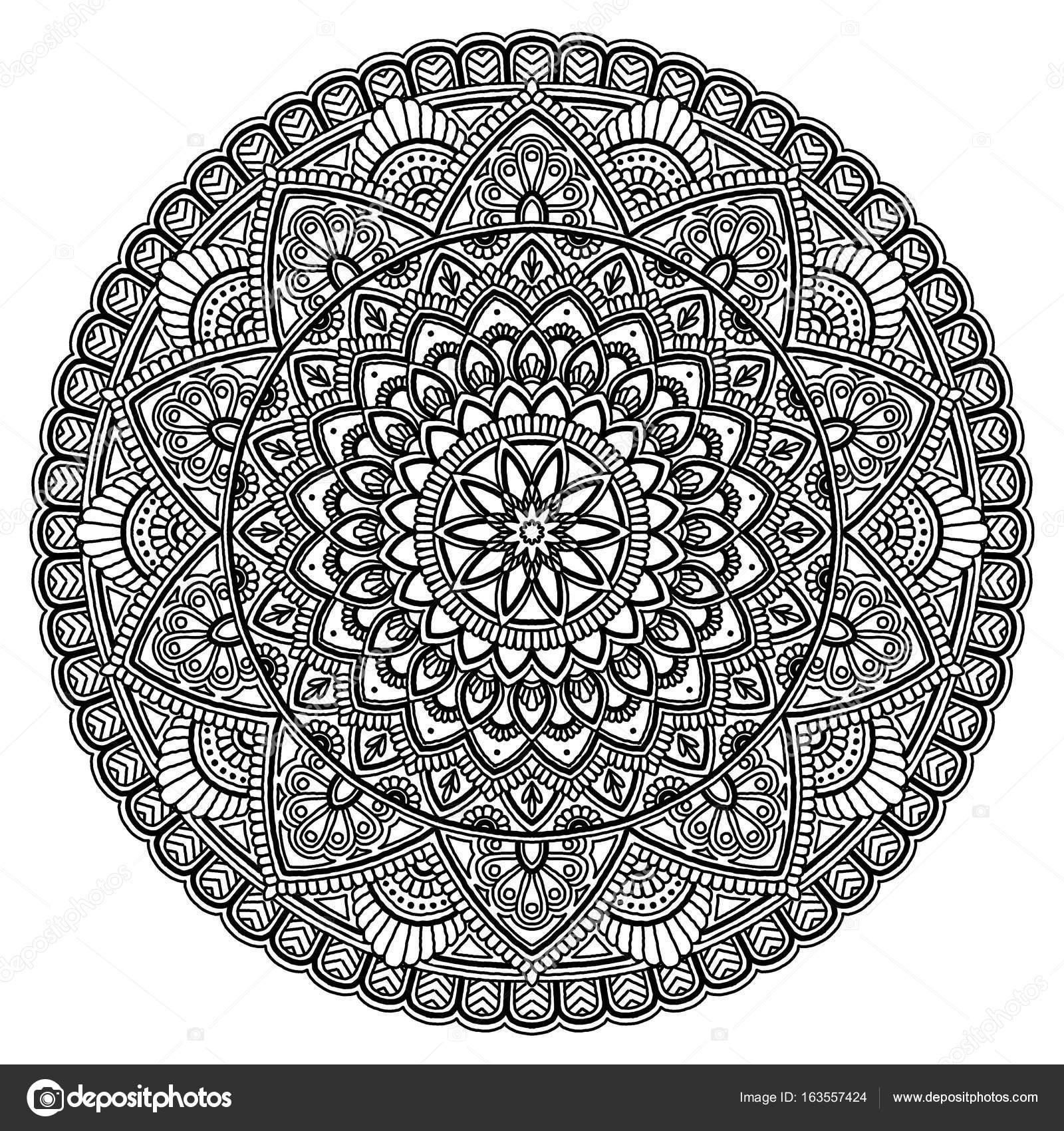 Mandala mod le grand noir et blanc photographie - Grand mandala ...