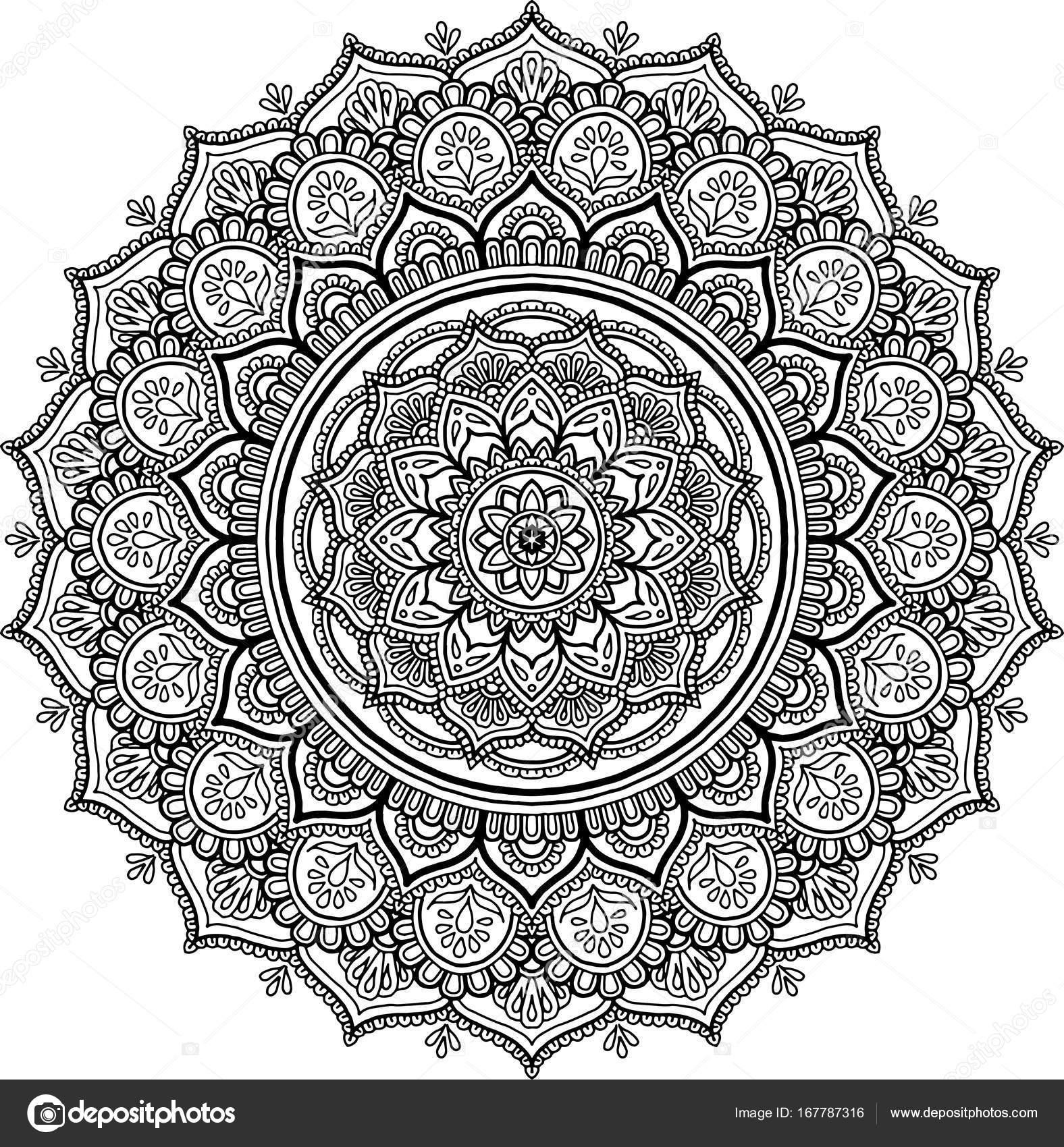 Mandalas grandes para colorear storblends - Grand mandala ...
